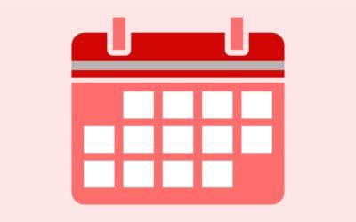 Calendário de Eventos – 1º Semestre de 2018